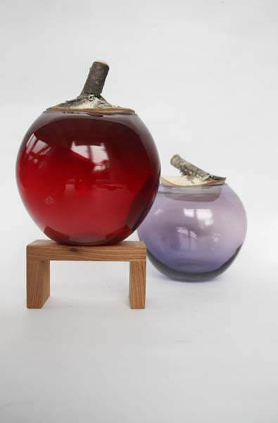 Branch Bowl Purple and Wine Red