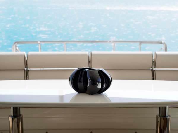 black persephone vase